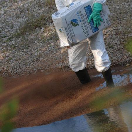 Absorbentes en polvo para hidrocarburos