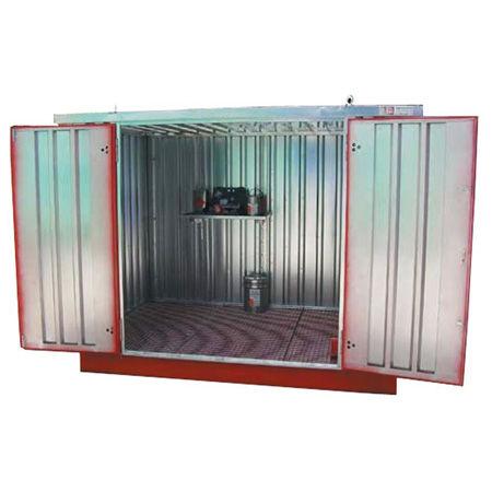Almacenes exteriores para recipientes, bidones y GRGs
