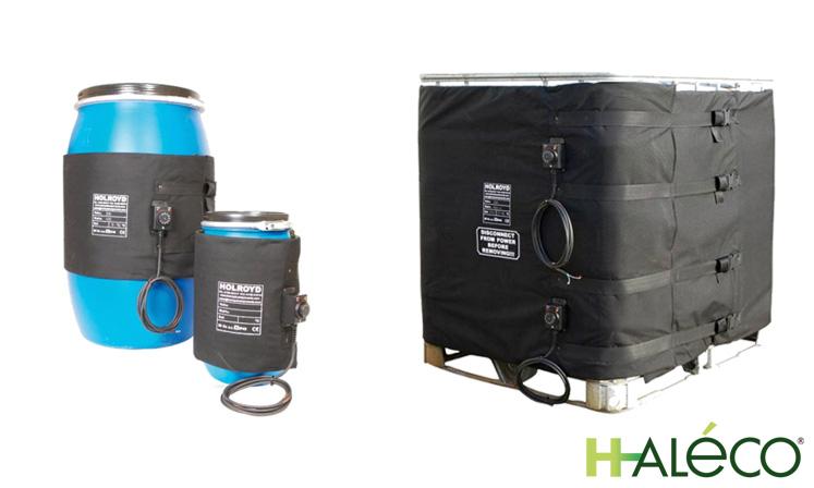 Mantas y bases calefactoras para contenedores y bidones | Haleco