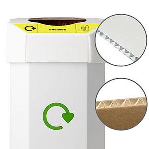 Contenedores de reciclaje post consumo de cartón | Gestión de residuos | Haleco