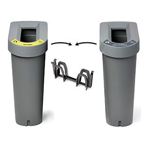 Contenedores de reciclaje post consumo de plástico | Gestión de residuos | Haleco