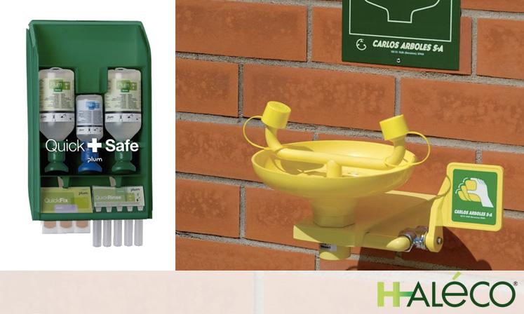 Cómo usar un lavaojos correctamente 01 | Lavaojos y duchas de seguridad | Haleco