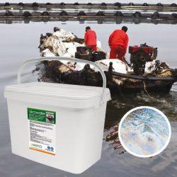 Absorbentes para bioremediación del agua