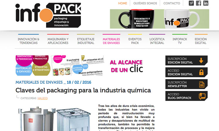 Packaging Industria química 02 | Haleco