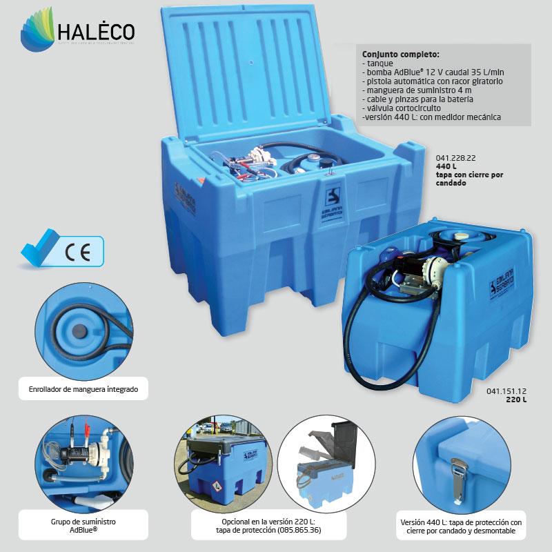 Tanque de transporte AdBlue® en polietileno compacto | Haleco
