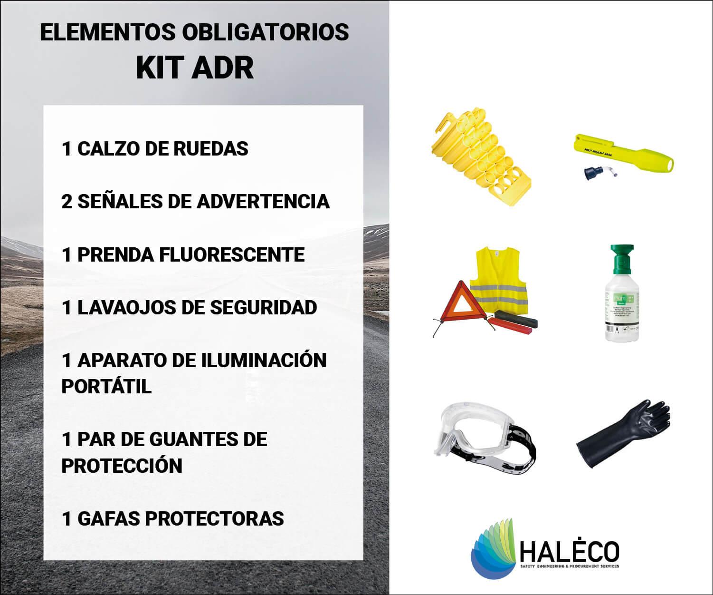 Haleco | Kit ADR, transporte de mercancías peligrosas
