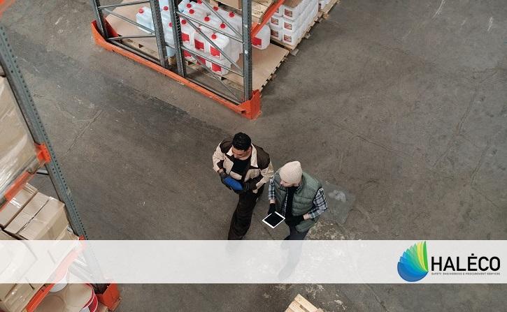 inspección del almacén