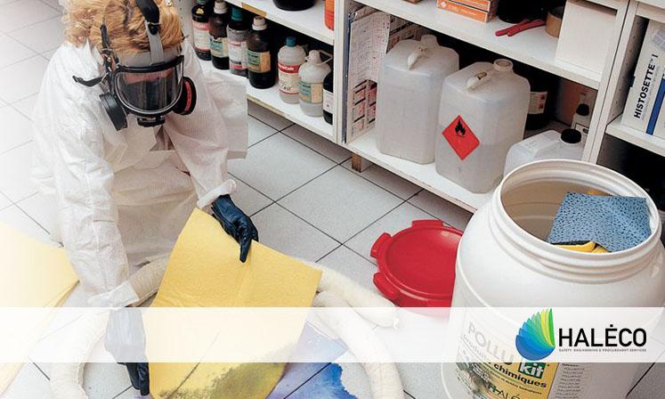 como actuar en caso de derrame de aceite - Haleco