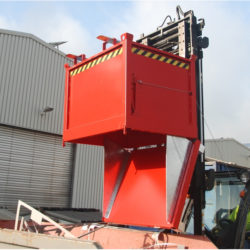 Contenedor industrial con fondo basculante, 750 litros | Haleco