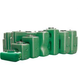 Depósito de agua de 250 L en polietileno, 106 cm x 66 cm x 51 cm
