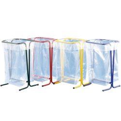 Soporte de bolsa en acero gran apertura, 110 L