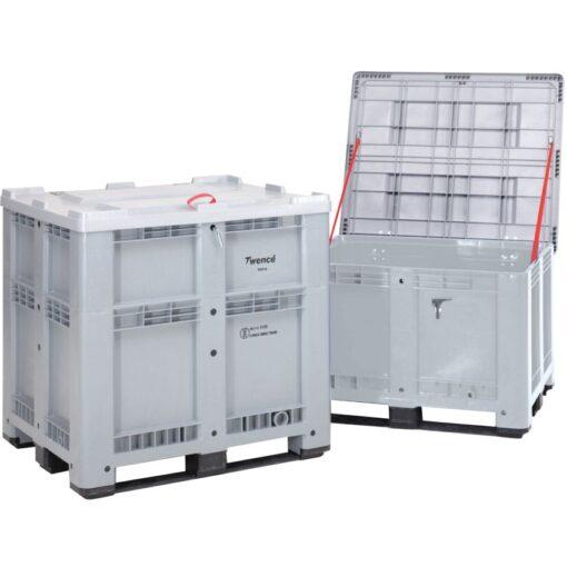 Caja palet con homologación ADR, 930 L, 120 cm x 100 cm x 115 cm 1