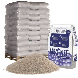 Atapulgita calcinada, absorbente mineral ABSO´NET SUPERIOR XTRA. Palet de 50 sacos de 20Kg.