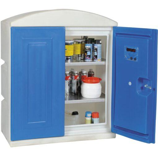Armario de seguridad en polietileno para productos corrosivos, 100 litros 97,5 cm x 52 cm x 118 cm 1