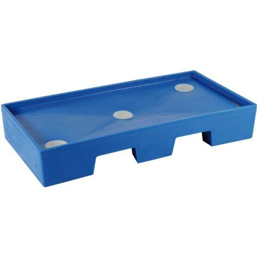 Cubeta de retención en polietileno para armario de seguridad para productos corrosivos 1