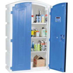 Armario de seguridad en polietileno para productos corrosivos, 180 litros 99 cm x 50 cm x 166 cm