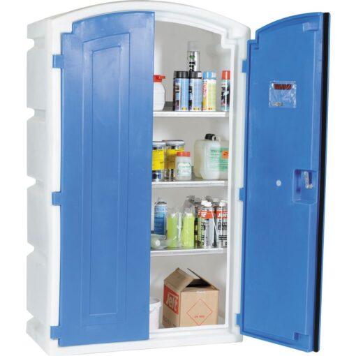 Armario de seguridad en polietileno para productos corrosivos, 180 litros 99 cm x 50 cm x 166 cm 1