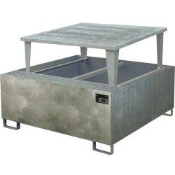 Cubeta de retención de acero galvanizado 1 GRG/IBC, 1000 litros 133 cm x 165 cm x 115 cm