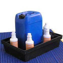 Cubeta de retención de polietileno para frascos, 30 litros 61,8 cm x 42 cm x 15,5 cm