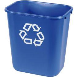 Papelera plástico flexible color Azul para recogida selectiva 26,5 L, 26 cm x 36,5 cm x 38 cm