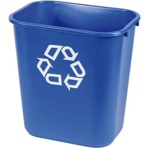 Papelera plástico flexible color Azul para recogida selectiva 26,5 L, 26 cm x 36,5 cm x 38 cm 1