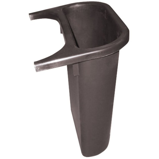 Recipiente de separación plástico color Negro  4,5 L, para papelera 1