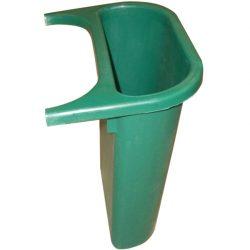 Recipiente de separación plástico color Verde  4,5 L, para papelera