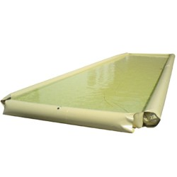 Piscina de retención flexible poliéster/PVC con bordes hinchables, 2000 litros 400 cm x 250 cm x 28 cm