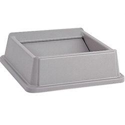 Styleline Series® Tapa basculante para papelera color Gris 51 cm x 51 cm x 16 cm