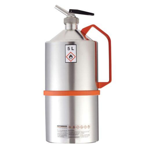 Bidón de seguridad con grifo para productos inflamables y explosivos, 5 L 1
