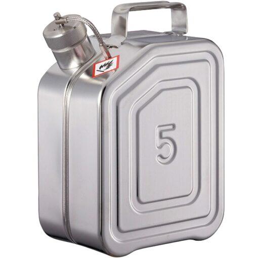 Jerrican de transporte de acero inoxidable para productos inflamables y explosivos 1