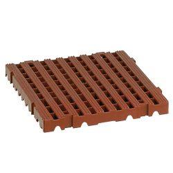 Baldosas-rejillas modulares para uso extremo Color Marrón 50 cm x 50 cm x 5 cm