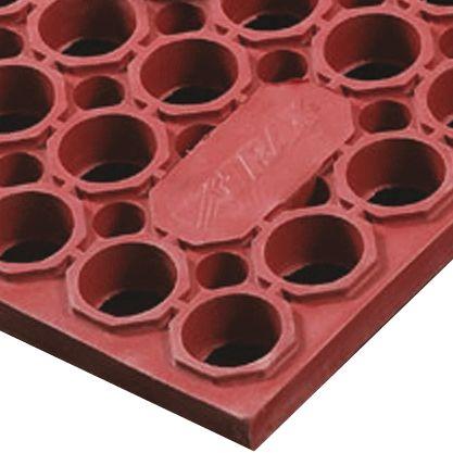 Sanitop Deluxe™  Losas-rejillas antifatiga para uso extremo Color Rojo 152 cm x 91 cm x 2 cm 1