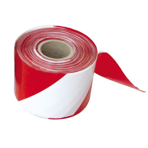 Cinta de señalización de color rojo y blanco 100 m 1
