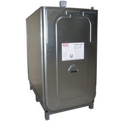 Cuba de almacenamiento multifluido acero/PE doble pared 1000 L 128 cm x 76 cm x 142 cm