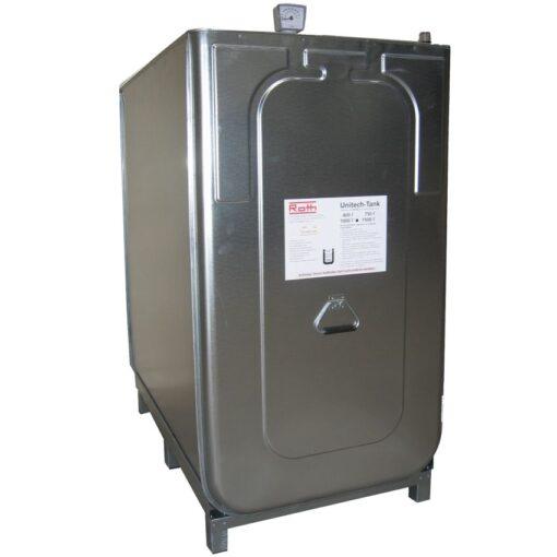 Cuba de almacenamiento multifluido acero/PE doble pared 1000 L 128 cm x 76 cm x 142 cm 1