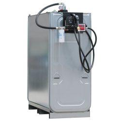 Cuba de almacenamiento multifluido acero/PE doble pared 400 L 73 cm x 70 cm x 118 cm