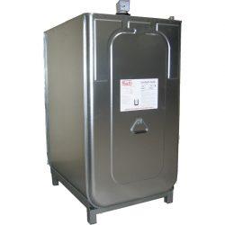 Cuba de almacenamiento multifluido acero/PE doble pared 750 L 98 cm x 76 cm x 142 cm