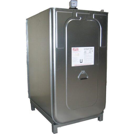 Cuba de almacenamiento multifluido acero/PE doble pared 750 L 98 cm x 76 cm x 142 cm 1