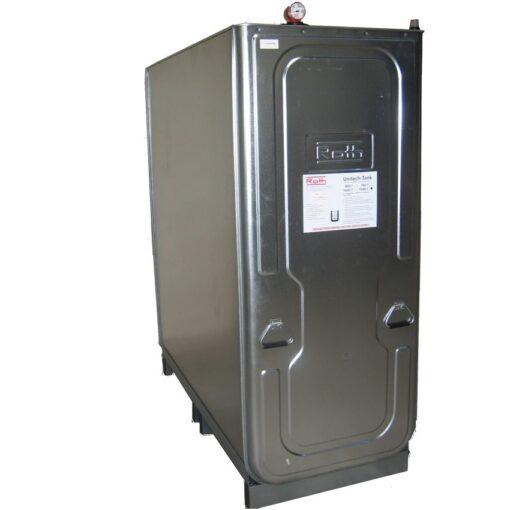 Cuba de almacenamiento multifluido acero/PE doble pared 1500 L 163 cm x 76 cm x 195 cm 1