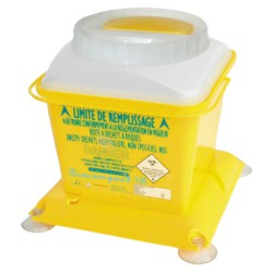 10 recipientes de plásticos para desechos biológicos 3 L