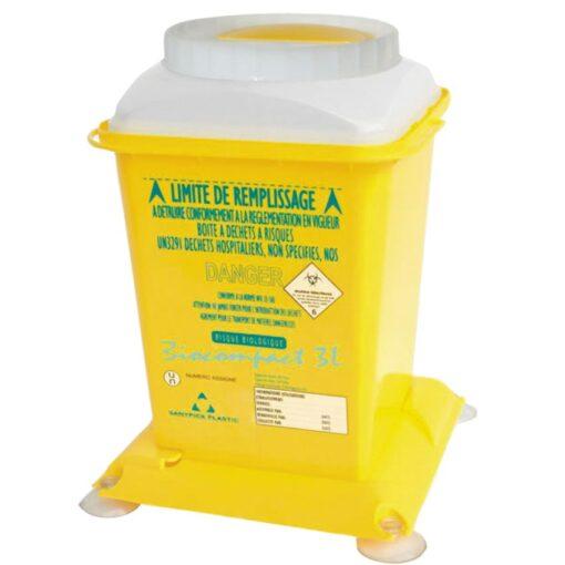 10 recipientes de plásticos para desechos biológicos 1,8 L 1