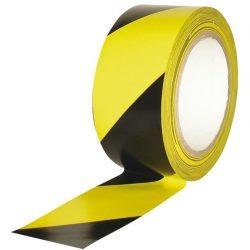 Cinta de señalización adhesiva multiuso amarilla y negra 33 m