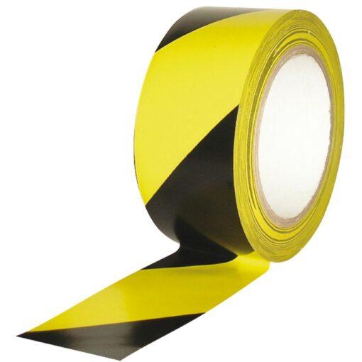 Cinta de señalización adhesiva multiuso amarilla y negra 33 m 1