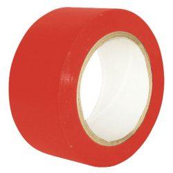 Cinta de señalización adhesiva multiuso roja 33 m