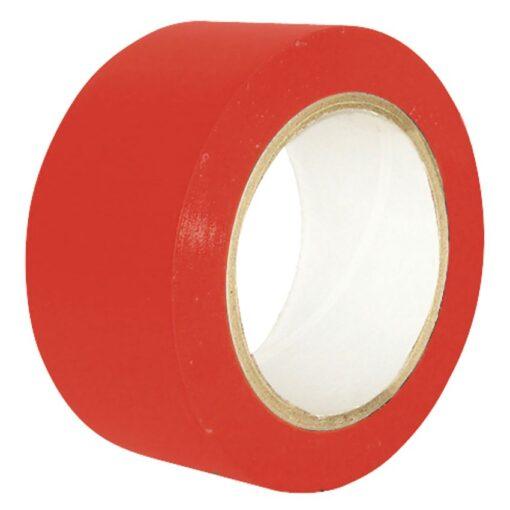 Cinta de señalización adhesiva multiuso roja 33 m 1