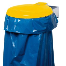 Soporte de bolsa con tapa de plástico, 110 L
