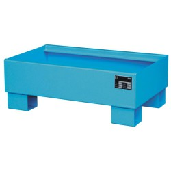 Cubeta de retención de acero barnizado 2 bidones, 72 litros.  80 cm x 50 cm x 22 cm
