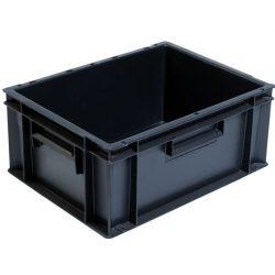 Cubeta apilable económica, 15 L, 40 cm x 30 cm x 17,5 cm