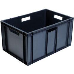 Cubeta apilable económica, 60 L, 60 cm x 40 cm x 31,9 cm